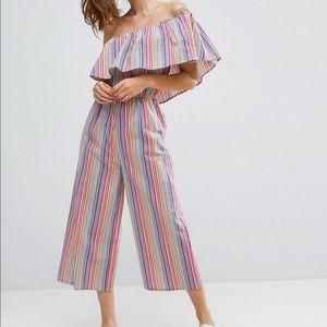 Aka multi stripe one shoulder jumper